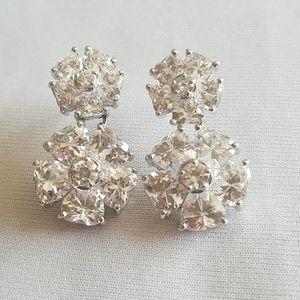 Sterling Silver Swarovski Crystal vintage earring